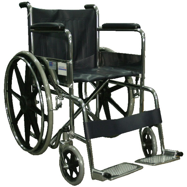 "Assure Chrome Standard Wheelchair 18"" Ar-0100 With Mag Wheel"
