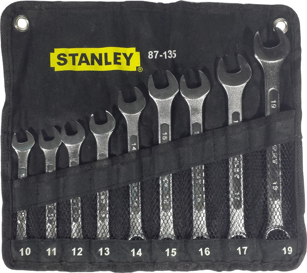 Stanley 9 Piece Combination Wrench Set, 10~19mm 87135