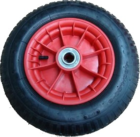 "Pneumatic Wheel for Wheel Barrow-14""x4"" Plastic Type"