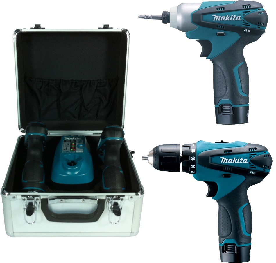 Makita 10.8V Li-Ion Combo Kit LCT204 (DF330+TD090)