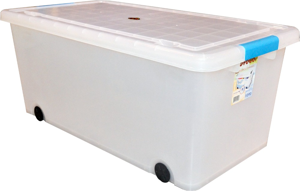 Toyogo 55L Storage Box with Cover and Wheel 1090 (Quantity of 6 Boxes)