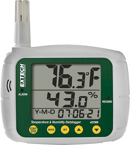 EXTECH TEMPERATURE AND HUMIDITY DATA LOGGER 42280