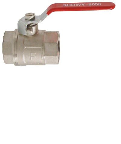 """SHOWY RED LONG HANDLE F/F BALL VALVE 1-1/4"""" 5056"""