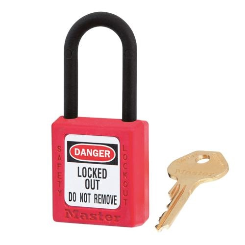 MASTERLOCK DIELECTRIC THERMOPLASTIC PADLOCK - 406RED