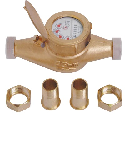 "SHOWY 1"" BRASS WATER METER 8243"