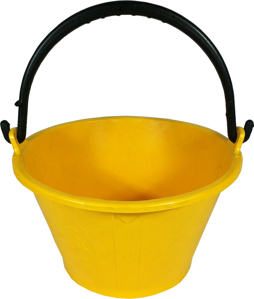 PLASTIC CEMENT PAIL YELLOW
