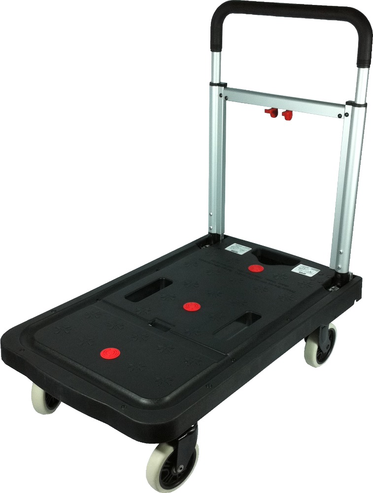 Crystar Foldable Platform Trolley Black CT120 120kg