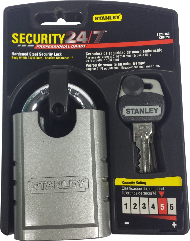 Stanley CD8820 High Strength Security Padlock, 60mm