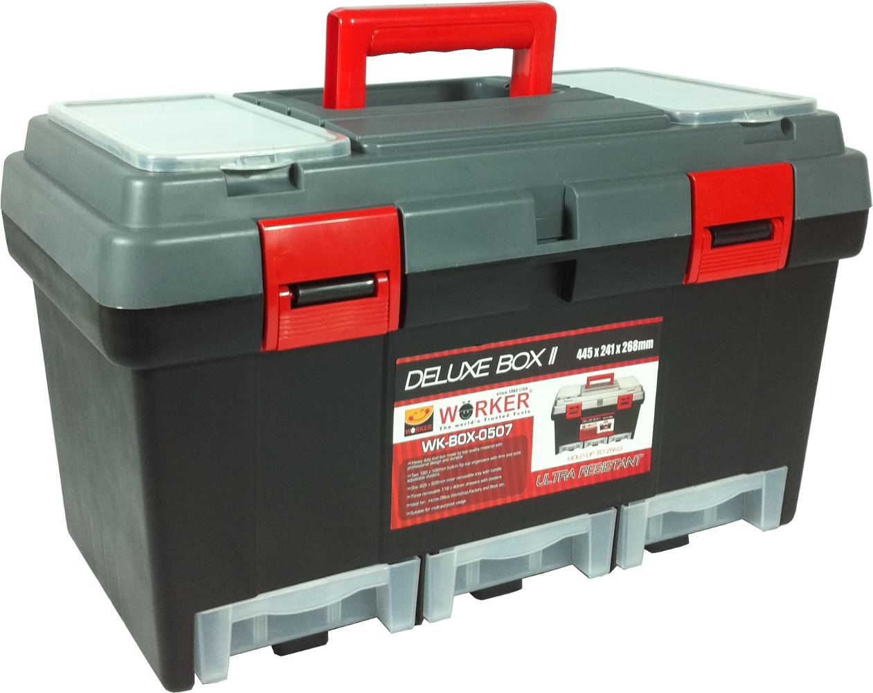 Worker Pvc Deluxe Tool Box Wk0507