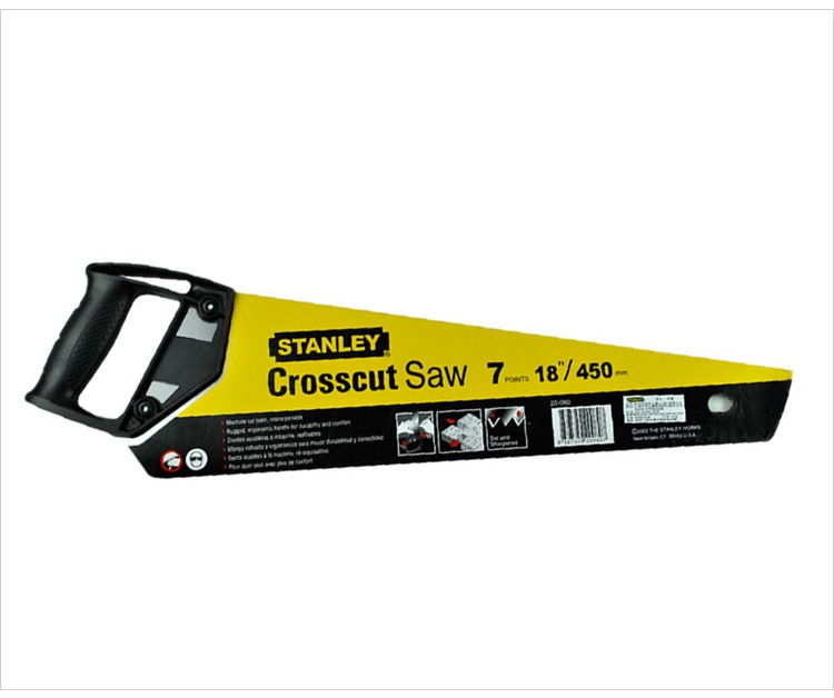 STANLEY CROSS CUT PLASTIC HANDLE SAW 6TPI