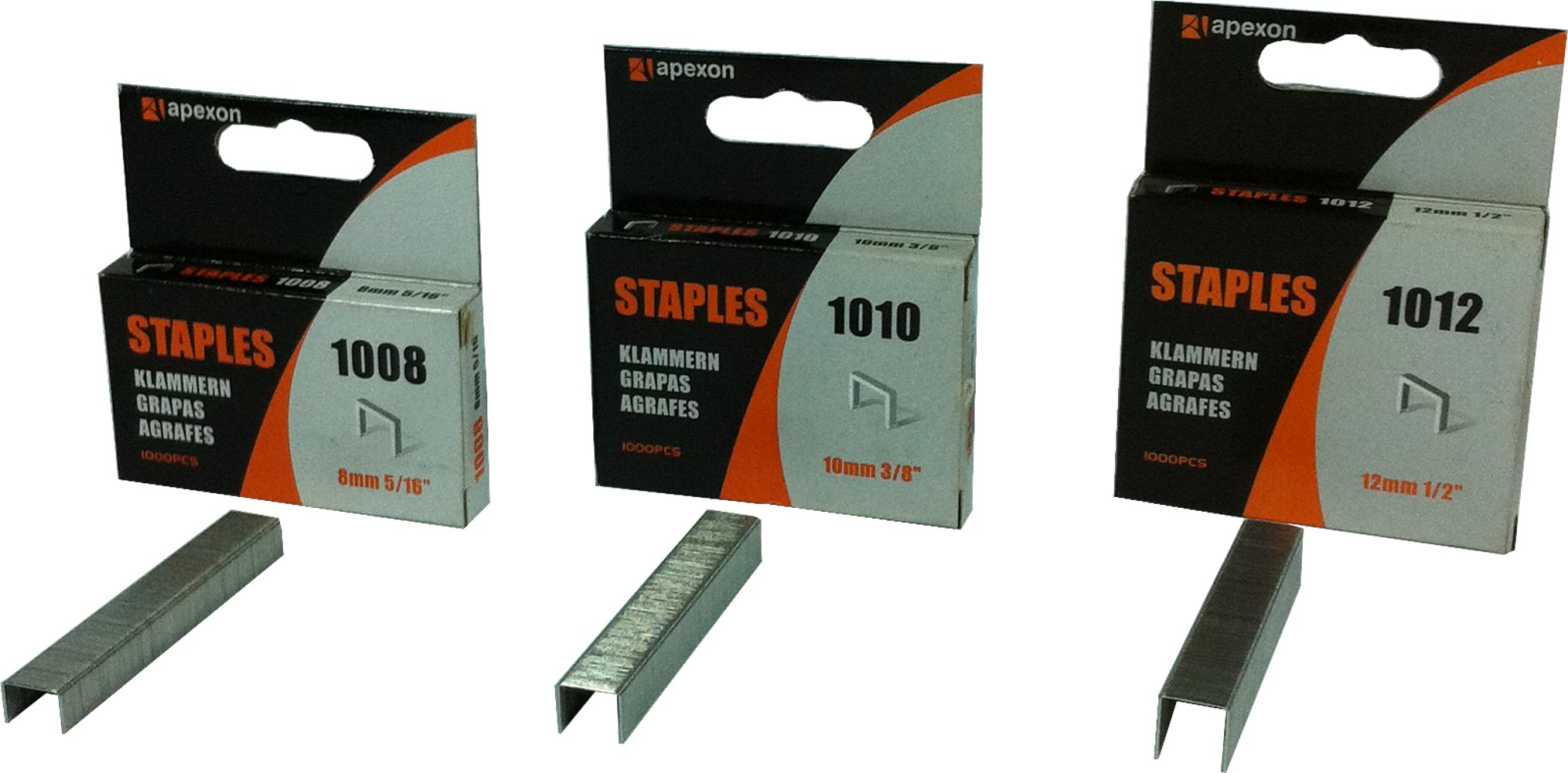 004-15 APEXON STAPLES 1000 PCS /BOX