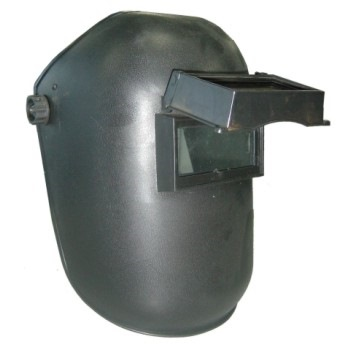 Welding Head Shield With Glass