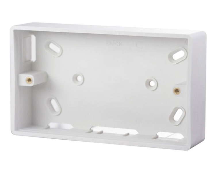 Abc 2 Gang Moulded Pvc Box 240720 (box of 20)