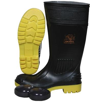 WAYNE BLACK SAFETY BOOT WITH TOE CAP WY1310