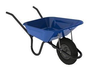 Wheel Barrow Extra H/duty- Blue With Welding WB6211X