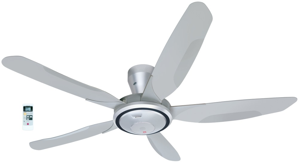 KDK 5 BLADE CEILING FAN + LED LAMP 150CM WITH REMOTE, V60WK