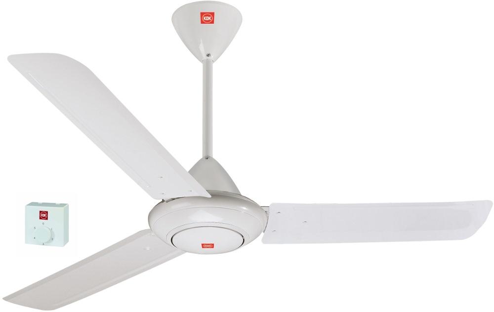 KDK 3 Blade Ceiling Fan 150CM, M60SG (WHITE)