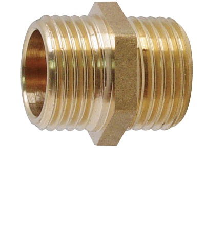 "SHOWY BRASS NIPPLE 1"" X 1""(M X M) 5299"