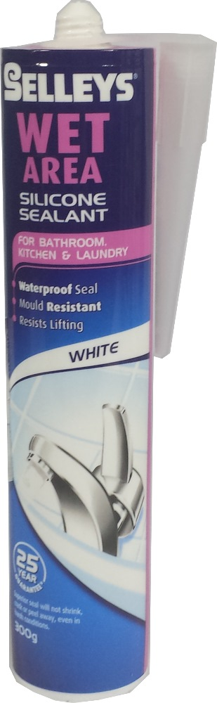 Selleys Wet Area Silicone Sealant-300gm for Bathroom Kitchen &laundry(white)
