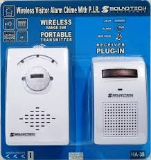 SOUNDTEOH WIRELESS VISTOR ALARM DOOR CHIME HA-38