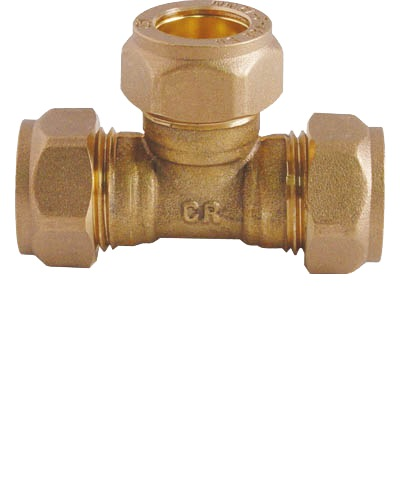 SHOWY PIPE TEE CXCXC 22MMX22MMX22MM-5042