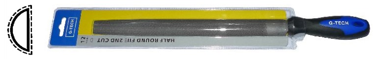 008-06 G-tech Half Round File W/ Plastic Handle Hr Series