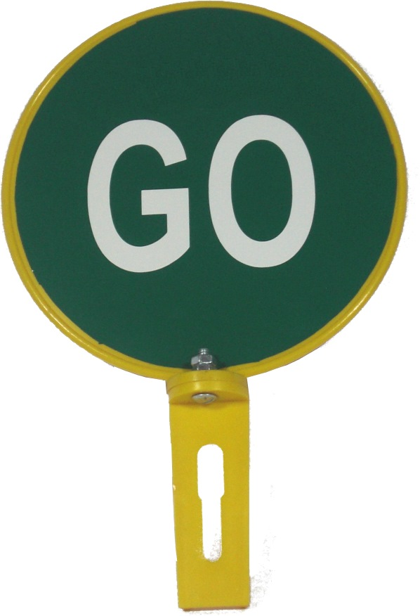Traffic Reflective Disc 200mm~stop/go Hand Sign