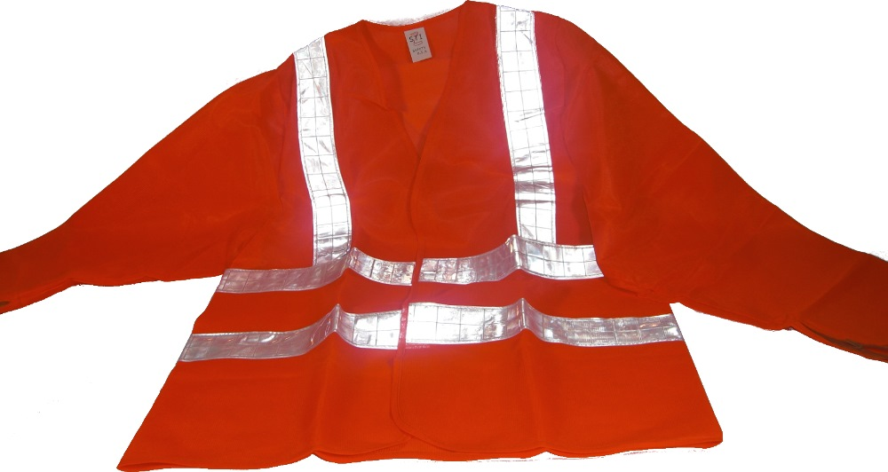 AccSafe SAFETY VEST LONG SLEEVE HIGH VISIBILITY