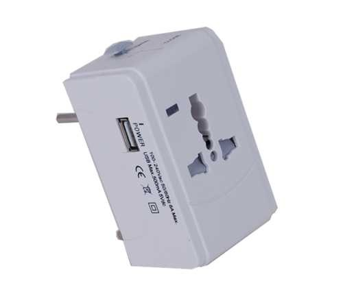 Morries Traveller Adaptor With Usb - MS003