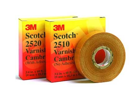 3m Scotch Varnish Cambric Tape 2520 Adhesive 3/4''x60ft