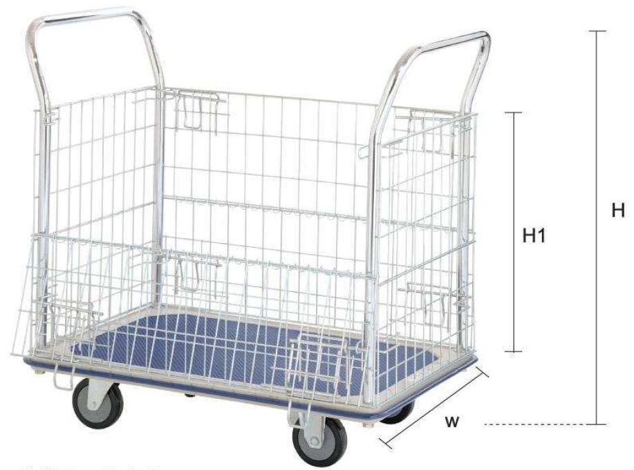 Jumbo Double Handle Mesh Trolley 370kg L970*w615*h950-HB213