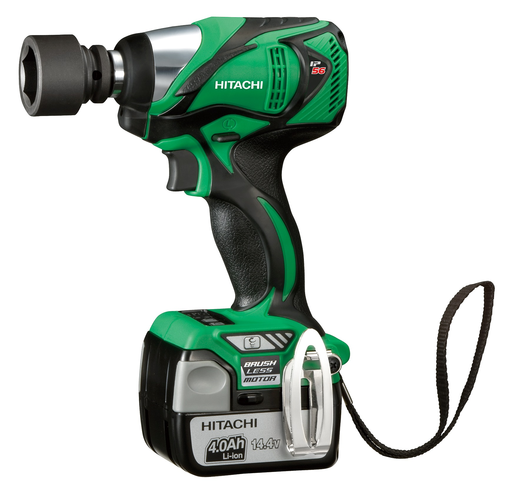 "HITACHI 1/2""DR 14.4V LI-ON IMPACT WRENCH, WR14DBAL2"