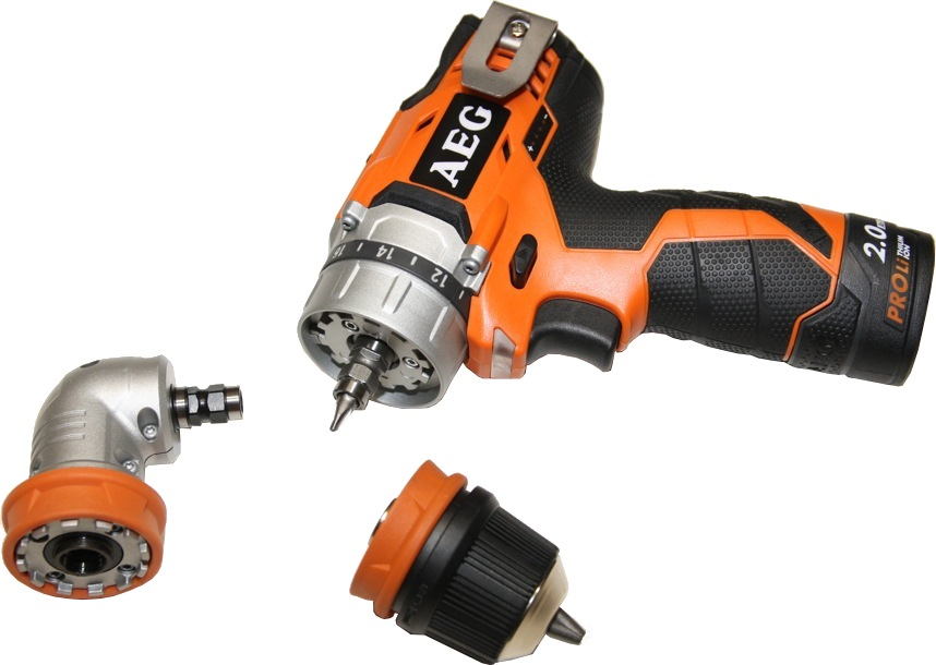AEG 12V LI-ION OMNI PRO DRILL DRIVER BBS12C2-LI + OFFSET ATTACHMENT BBSS12 (SET)