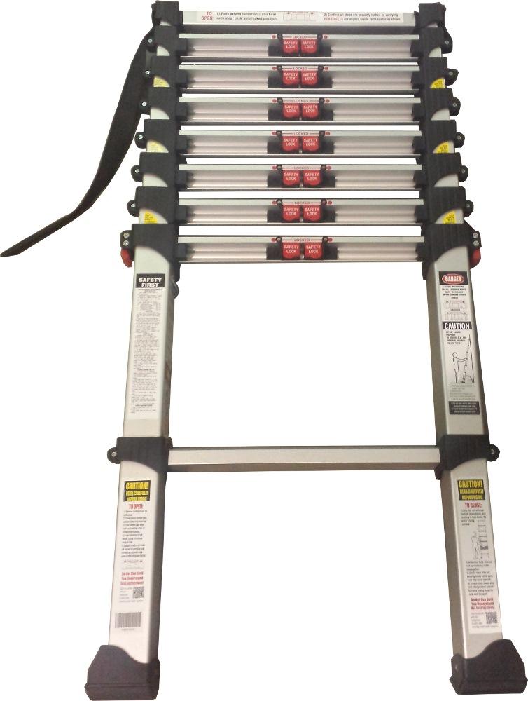 Louison Aluminium Telescopic Straight Ladder LTS09, H-10ft,262cm