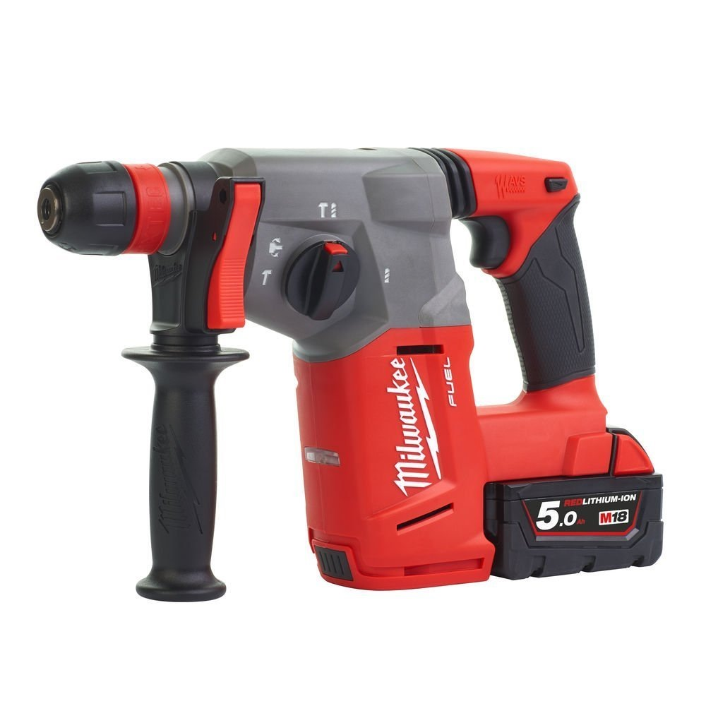 MILWAUKEE 26MM 18V 2X5.0 AH LI-ION SDS+ ROTARY HAMMER , M18CHX-502C