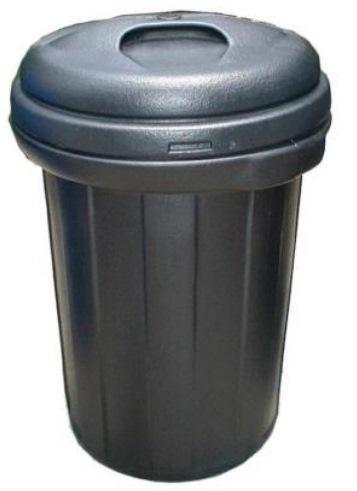 70 Litres Round High Density Polyethylene (hdpe) Bin C/w Cover