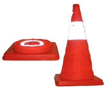 Safety Collapsible Reflective Cone 18""