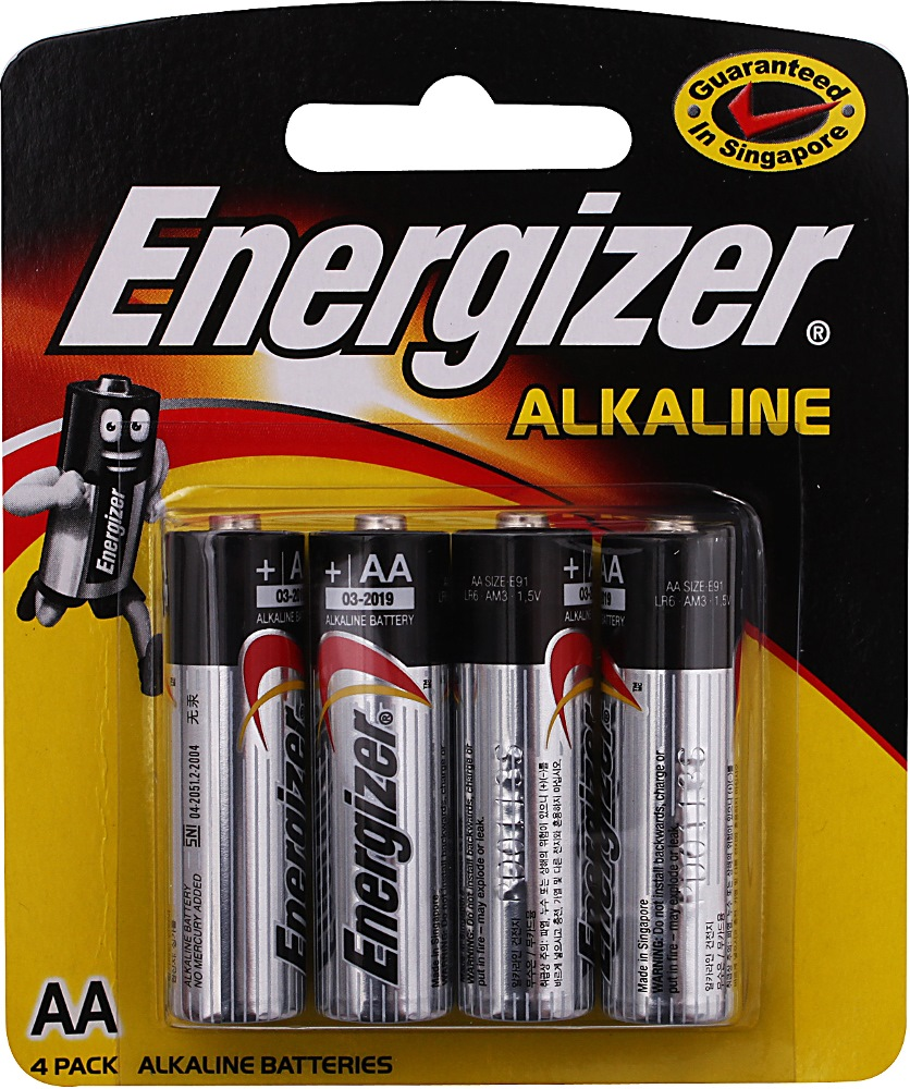 Energizer Aa Battery E2AB48 (12 Packs of 4)
