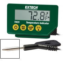 EXTECH WATERPROOF TEMPERATURE INDICATOR WITH PENETRATION PROBE EXTECH TM25
