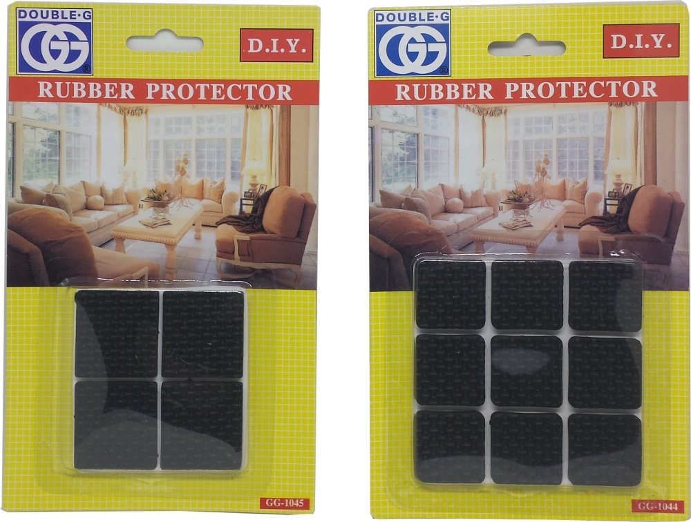 GG BLACK RUBBER SKID SQUARE DISC 25X25MM GG1044- 9PPP