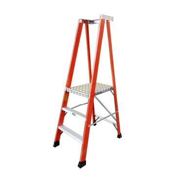 Laddermenn H/d Fibreglass Platform Ladder C/w Chain
