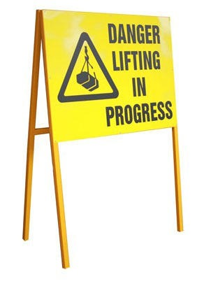Danger Lifting in Progress C/w Foldable Stand 800mmx600mm