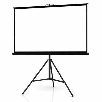 PORTABLE TRIPOD PROJECTION SCREEN SIZE: 5FT X 5FT