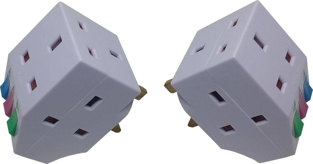 Ck 3way 13a Adaptor W/out Neon Ck8196+ck8198 Twin Pack