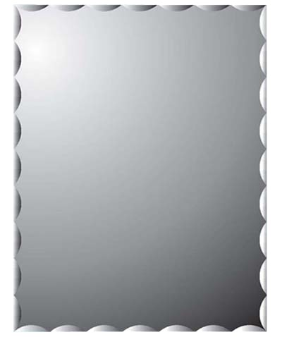 SHOWY LACE 450X600MM SILVER-COATED RECTANGULAR MIRROR 2922 (2922-500)