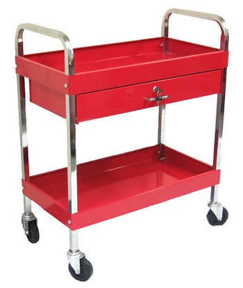 Horme 2tier Tools Trolley With Lockable Drawer, TC303D