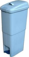 18-Litres Rect. Plastic Sanitary Bin C/w Foot Pedal & Anti-see through Lid. Colour: Blue only