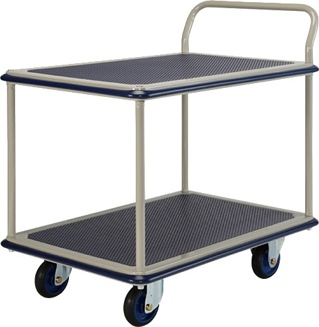 Prestar Double Deck Single Handle Trolley NF314