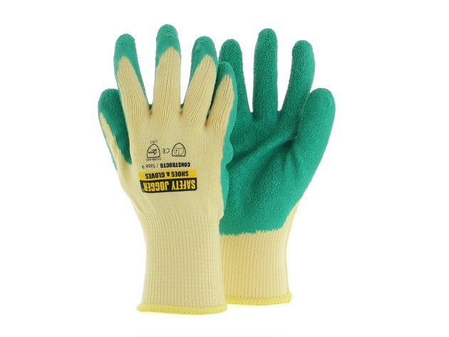 Safety Jogger Constructo Latex Grip Cotton Glove [EN 388] (Pack of 3)