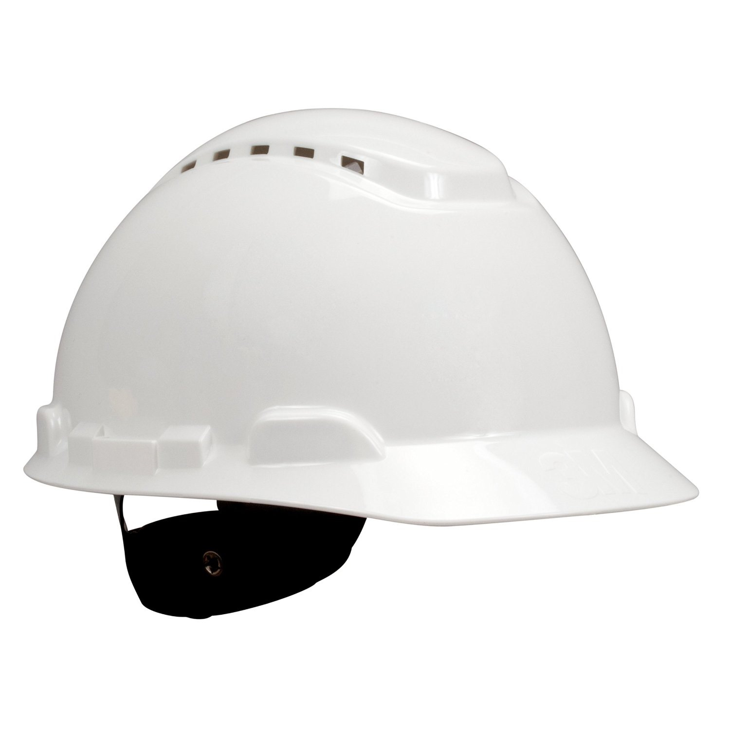 3m H-701r Helmet White 4 Pt Ratchet With Chin Strap